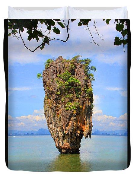 007 Island Duvet Cover by Mark Ashkenazi