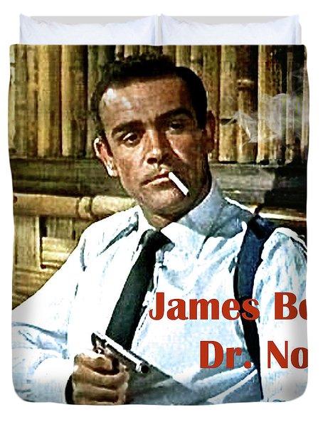007, James Bond, Sean Connery, Dr No Duvet Cover