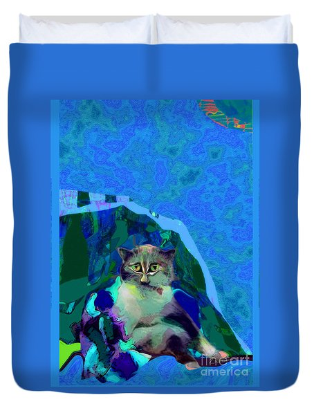 007 The Under Covers Cat Duvet Cover