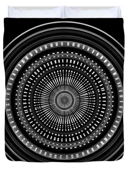 Duvet Cover featuring the digital art #011020153 by Visual Artist Frank Bonilla