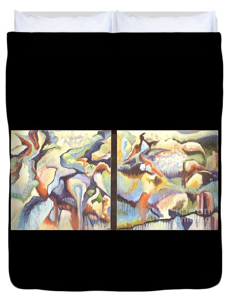 01315 Light Year Diptych Duvet Cover