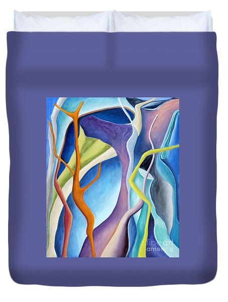 01322 Aspiration Duvet Cover by AnneKarin Glass