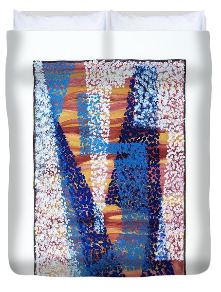 01325 Blue Too Duvet Cover by AnneKarin Glass