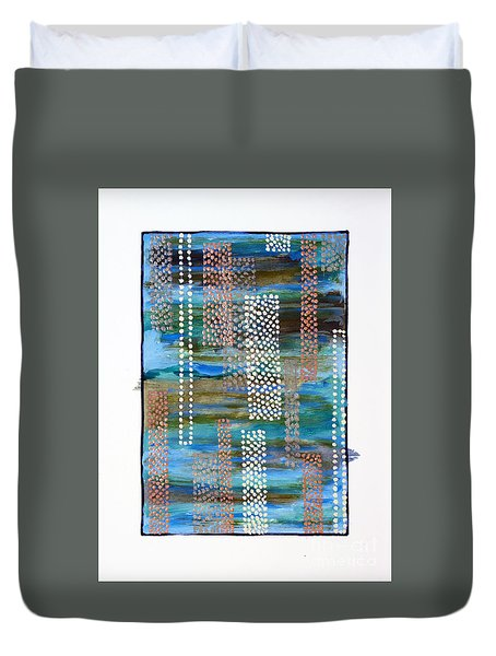 01332 Straight Duvet Cover by AnneKarin Glass