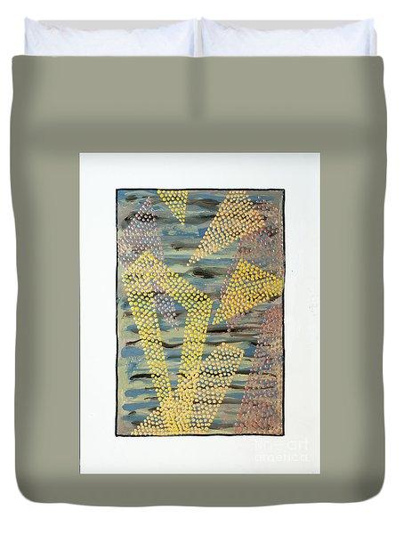 01333 Left Duvet Cover by AnneKarin Glass