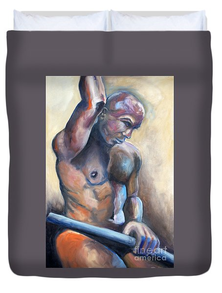 01335 Driver Duvet Cover by AnneKarin Glass