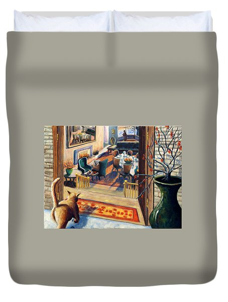 01348 Awaiting Guests Duvet Cover by AnneKarin Glass