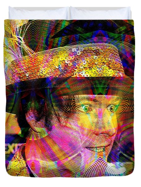 Duvet Cover featuring the digital art #021320164 by Visual Artist Frank Bonilla