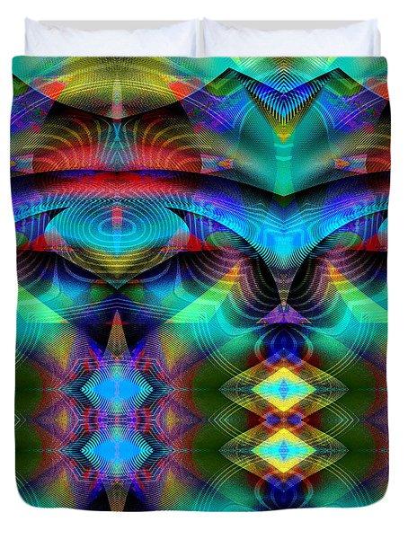 Duvet Cover featuring the digital art #030620161 by Visual Artist Frank Bonilla