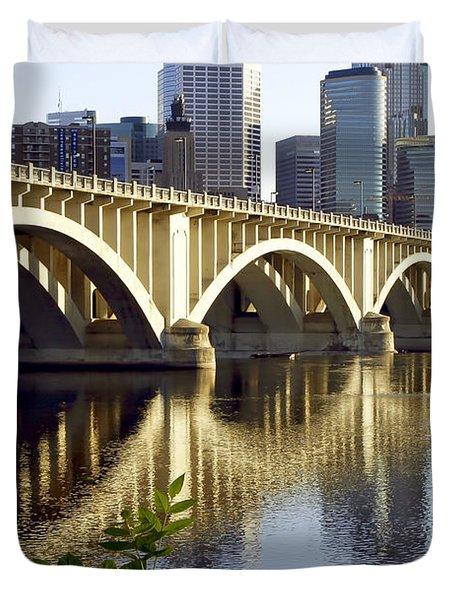 0333 3rd Avenue Bridge Minneapolis Duvet Cover by Steve Sturgill