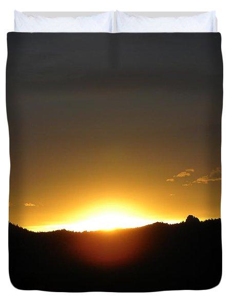 Sunrise West Side Of Rmnp Co Duvet Cover