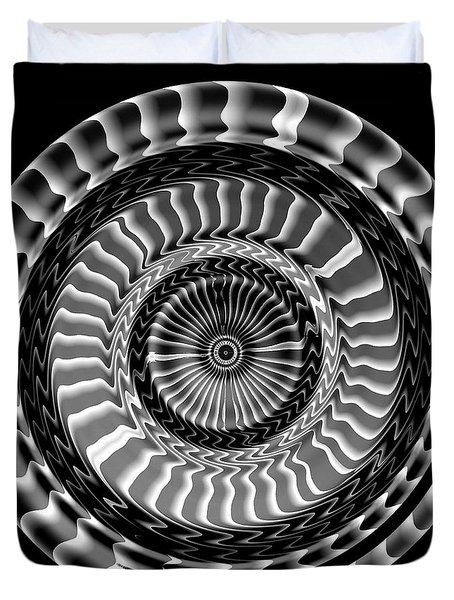 Duvet Cover featuring the digital art #041120156 by Visual Artist Frank Bonilla