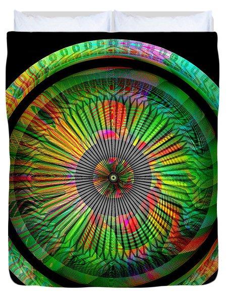 Duvet Cover featuring the digital art #042920159 by Visual Artist Frank Bonilla