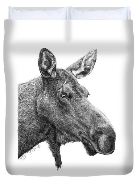 048 - Shelly The Moose Duvet Cover