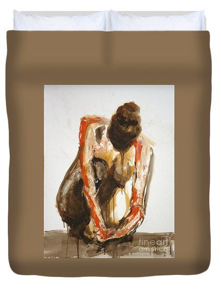 04863 Deep Thinker Duvet Cover by AnneKarin Glass
