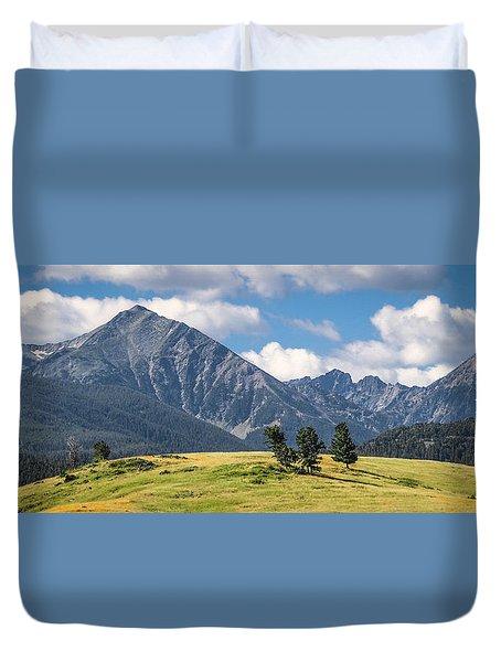#0491 - Spanish Peaks, Southwest Montana Duvet Cover