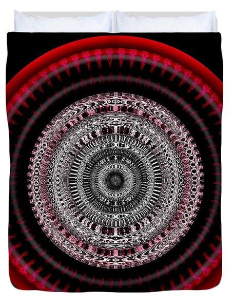 Duvet Cover featuring the digital art #050820155 by Visual Artist Frank Bonilla
