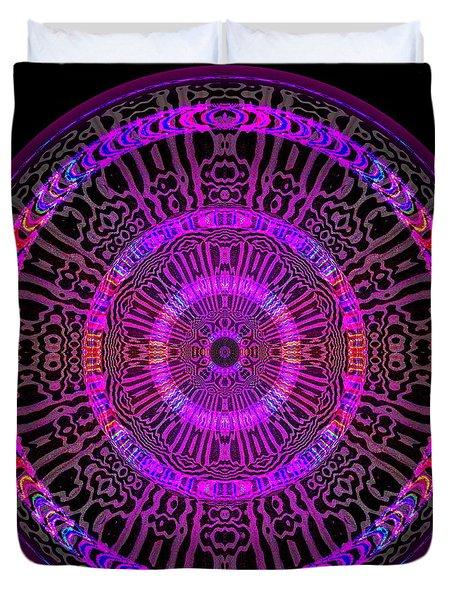 Duvet Cover featuring the digital art #051702158 by Visual Artist Frank Bonilla