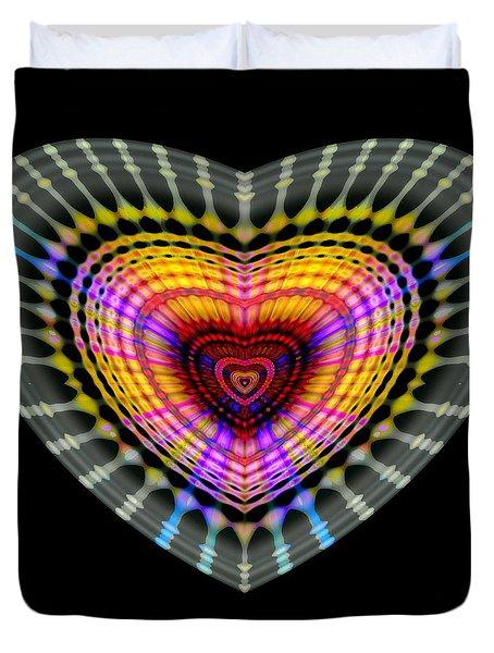 Duvet Cover featuring the digital art #051820151 by Visual Artist Frank Bonilla
