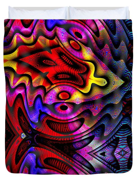 Duvet Cover featuring the digital art #052520151 by Visual Artist Frank Bonilla