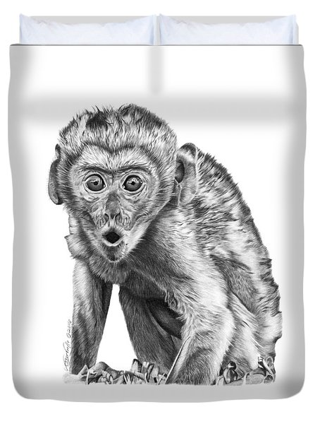 057 Madhula The Monkey Duvet Cover by Abbey Noelle
