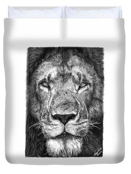059 - Lorien The Lion Duvet Cover by Abbey Noelle