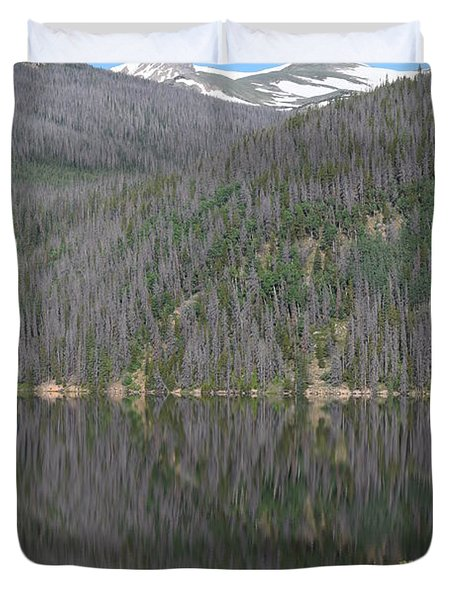 Chambers Lake Reflection Hwy 14 Co Duvet Cover