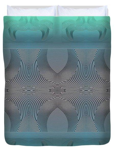 Duvet Cover featuring the digital art #061220171 by Visual Artist Frank Bonilla