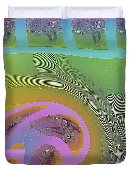 Duvet Cover featuring the digital art #061220173 by Visual Artist Frank Bonilla