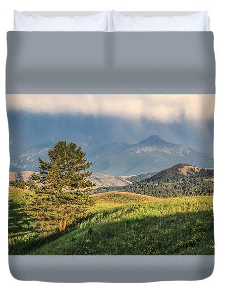#0613 - Absaroka Range, Paradise Valley, Southwest Montana Duvet Cover