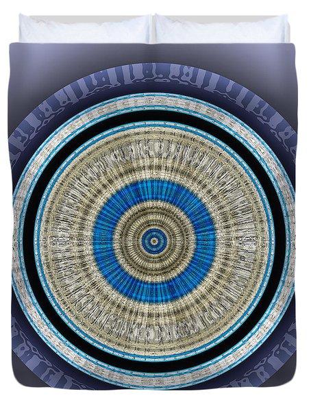 Duvet Cover featuring the digital art #062720151 by Visual Artist Frank Bonilla