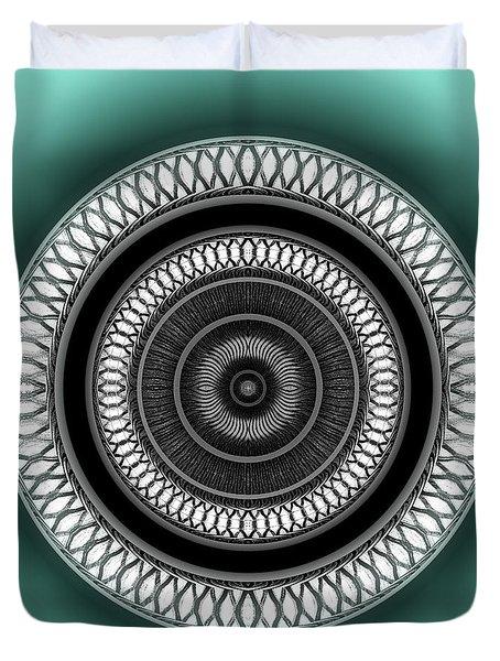 Duvet Cover featuring the digital art #062720153 by Visual Artist Frank Bonilla