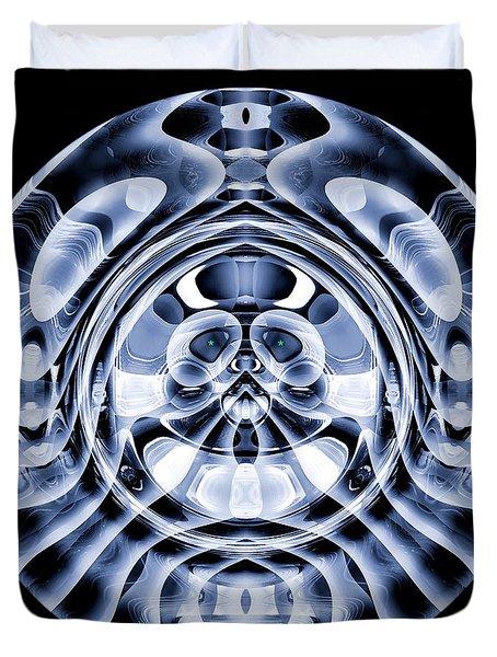 Duvet Cover featuring the digital art #062820157 by Visual Artist Frank Bonilla