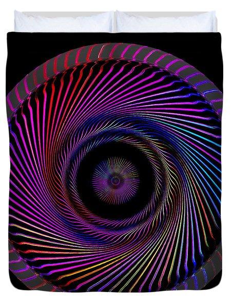 Duvet Cover featuring the digital art #062820158 by Visual Artist Frank Bonilla