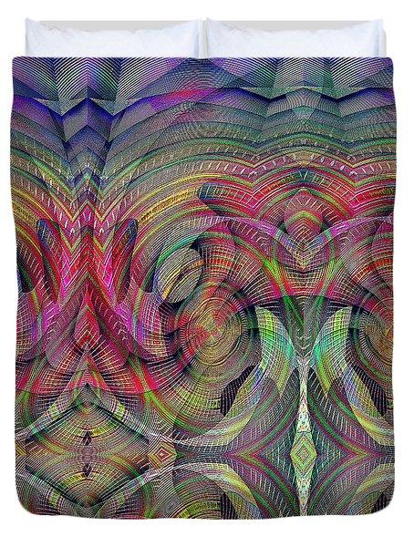 Duvet Cover featuring the digital art #0705201510 by Visual Artist Frank Bonilla