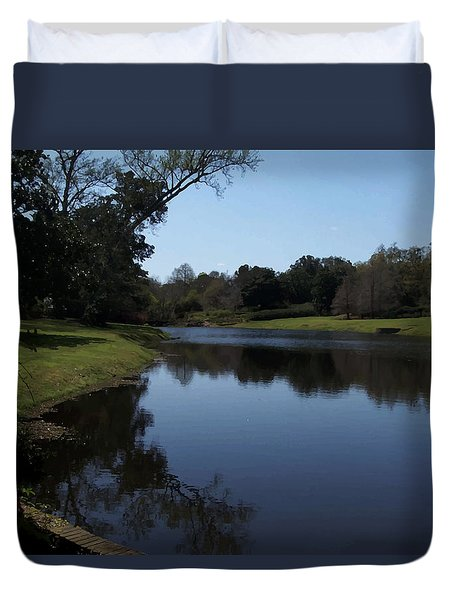 071115 Louisiana Bayou Duvet Cover