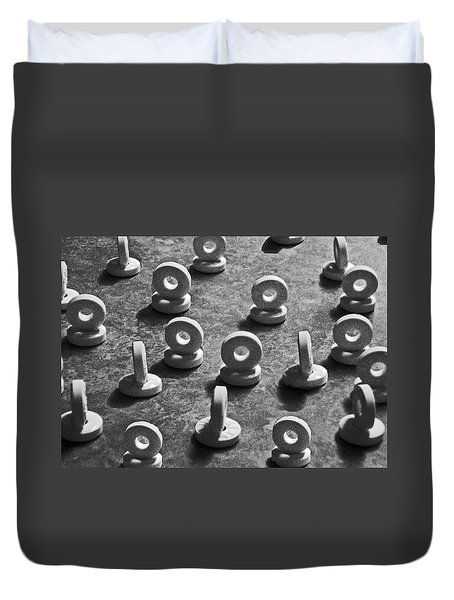 Duvet Cover featuring the photograph 08 Lifesavers Rb 1-upped by Curtis J Neeley Jr