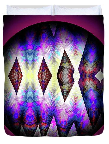 Duvet Cover featuring the digital art 080620172 by Visual Artist Frank Bonilla