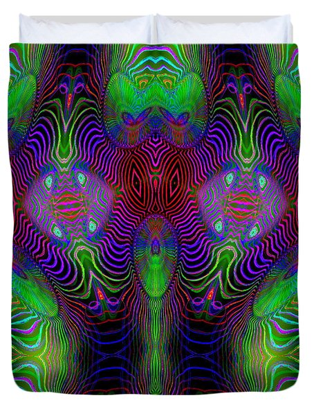 Duvet Cover featuring the digital art #092820151 by Visual Artist Frank Bonilla