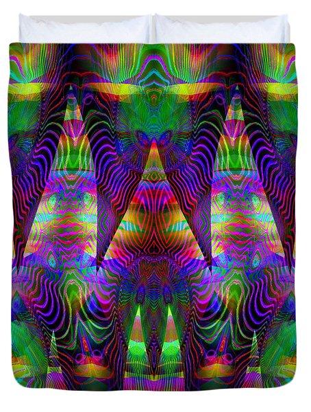 Duvet Cover featuring the digital art #092820153 by Visual Artist Frank Bonilla