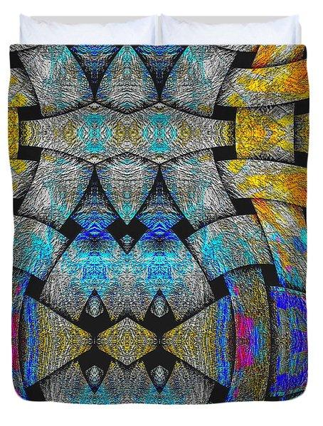 Duvet Cover featuring the digital art #092920156 by Visual Artist Frank Bonilla