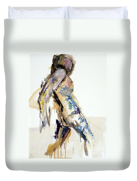 04922 Surprised Duvet Cover by AnneKarin Glass