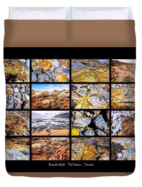 ' Australia Rocks '  Trial Harbour - Tasmania Duvet Cover