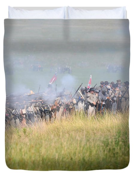 Gettysburg Confederate Infantry 7503c Duvet Cover