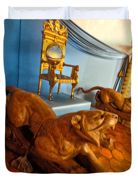 Duvet Cover featuring the photograph  Pubol Spain Gala Castle by Gregory Dyer