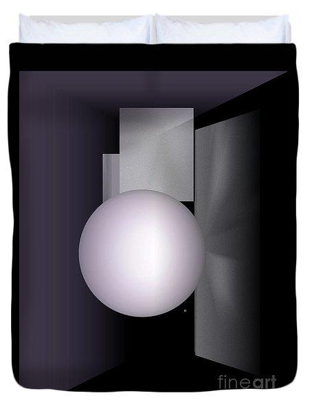 Duvet Cover featuring the digital art 1-2017 by John Krakora