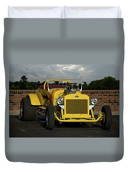 1928 Ford Bucket T Hot Rod Duvet Cover