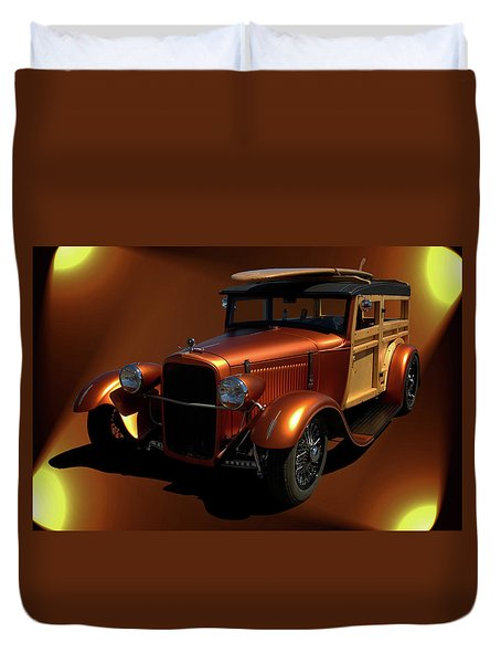 1929 Ford Model A Woody Duvet Cover