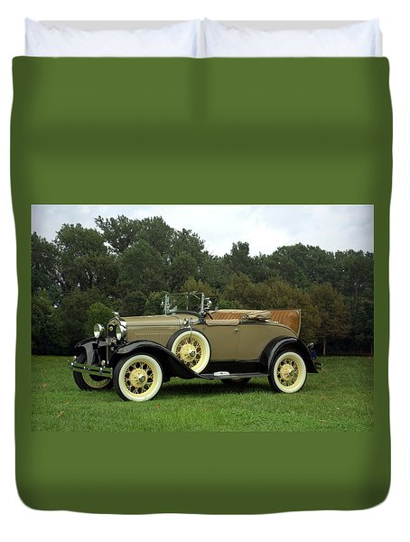 1931 Ford Model A Roadster Duvet Cover by Tim McCullough