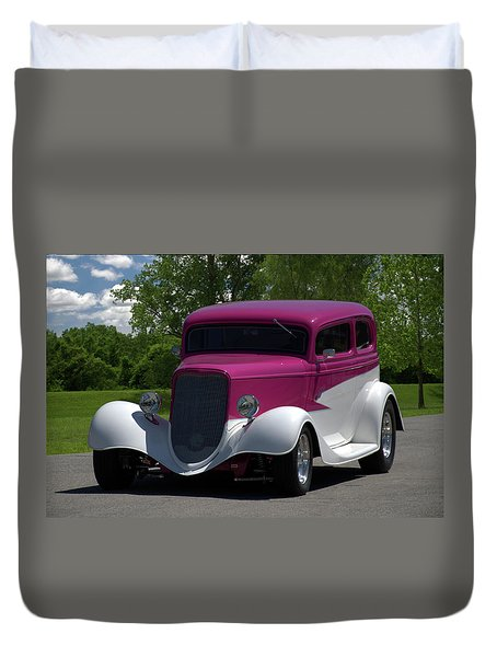 1933 Ford Vicky Duvet Cover by Tim McCullough